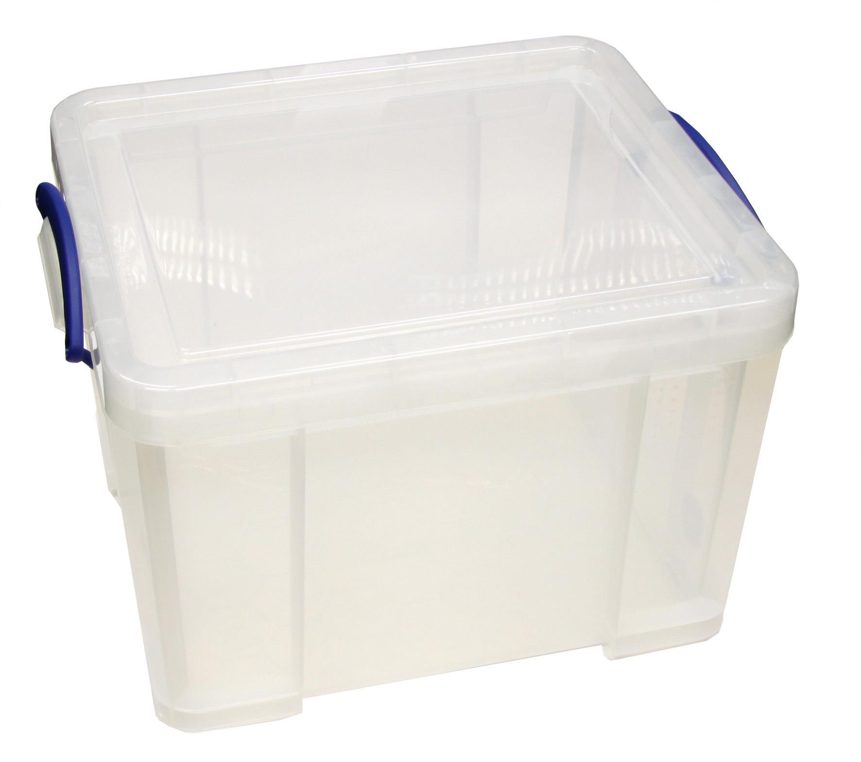 Transportbehälter f. 3 Stück 10 cm-Boxen, stapelbar, Kunstst.