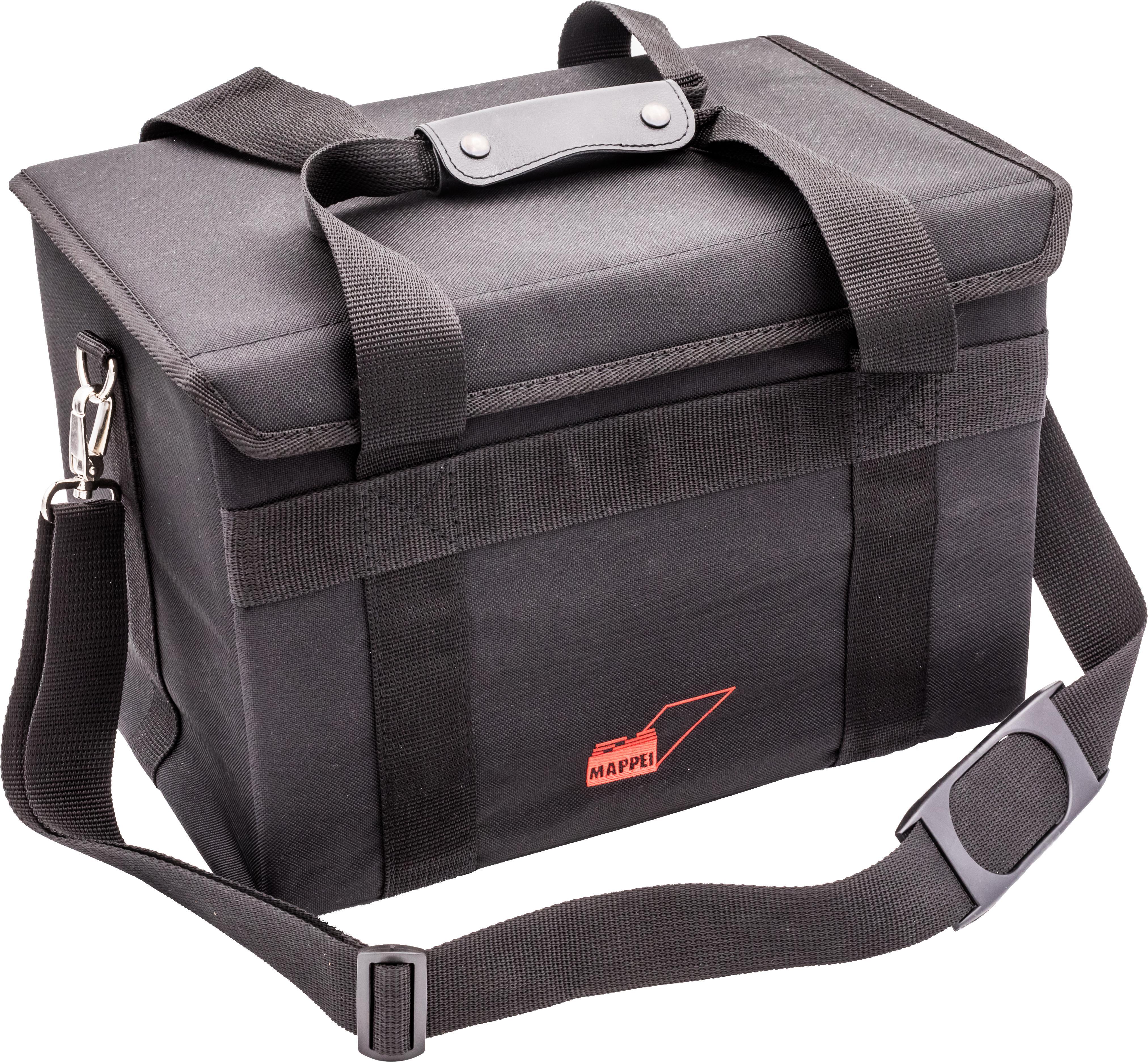 Transporttasche für 2 10 cm-Boxen, m. Trageriemen, Nylon