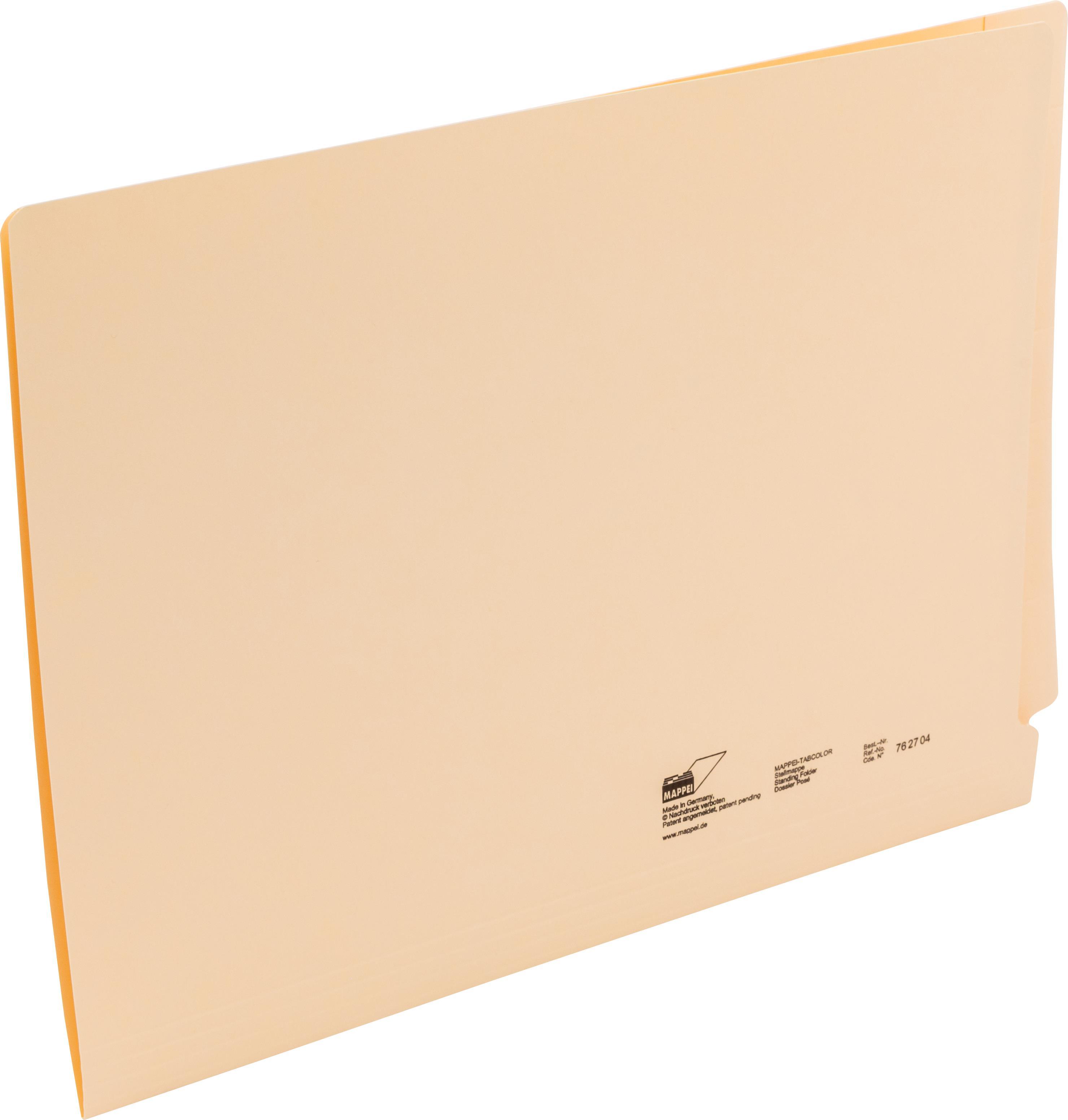 TABCOLOR-Stellmappe f. A4, Zellstoffkarton 350 g/qm