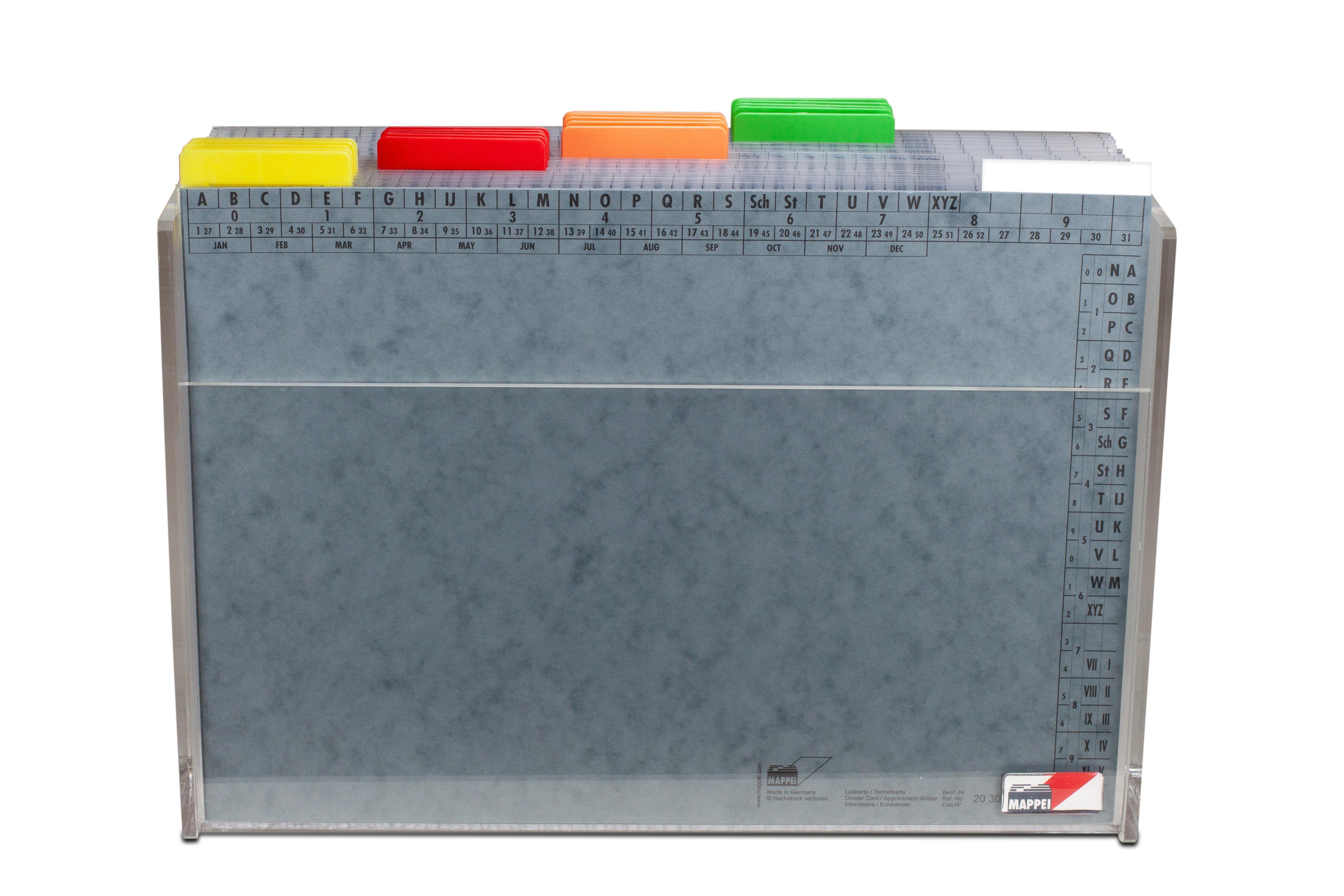 Assekuranz-Set, Aufgabgen im Überblick (Box aus Acryl)