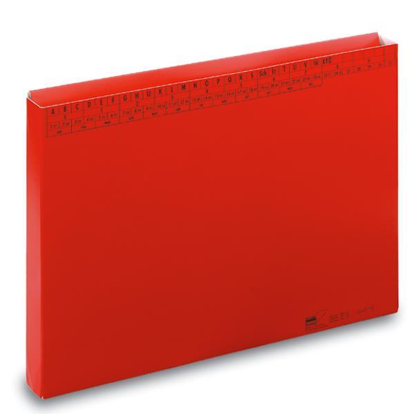 Sammler f. DIN A4, 30 mm breit, Duplexkarton, rot