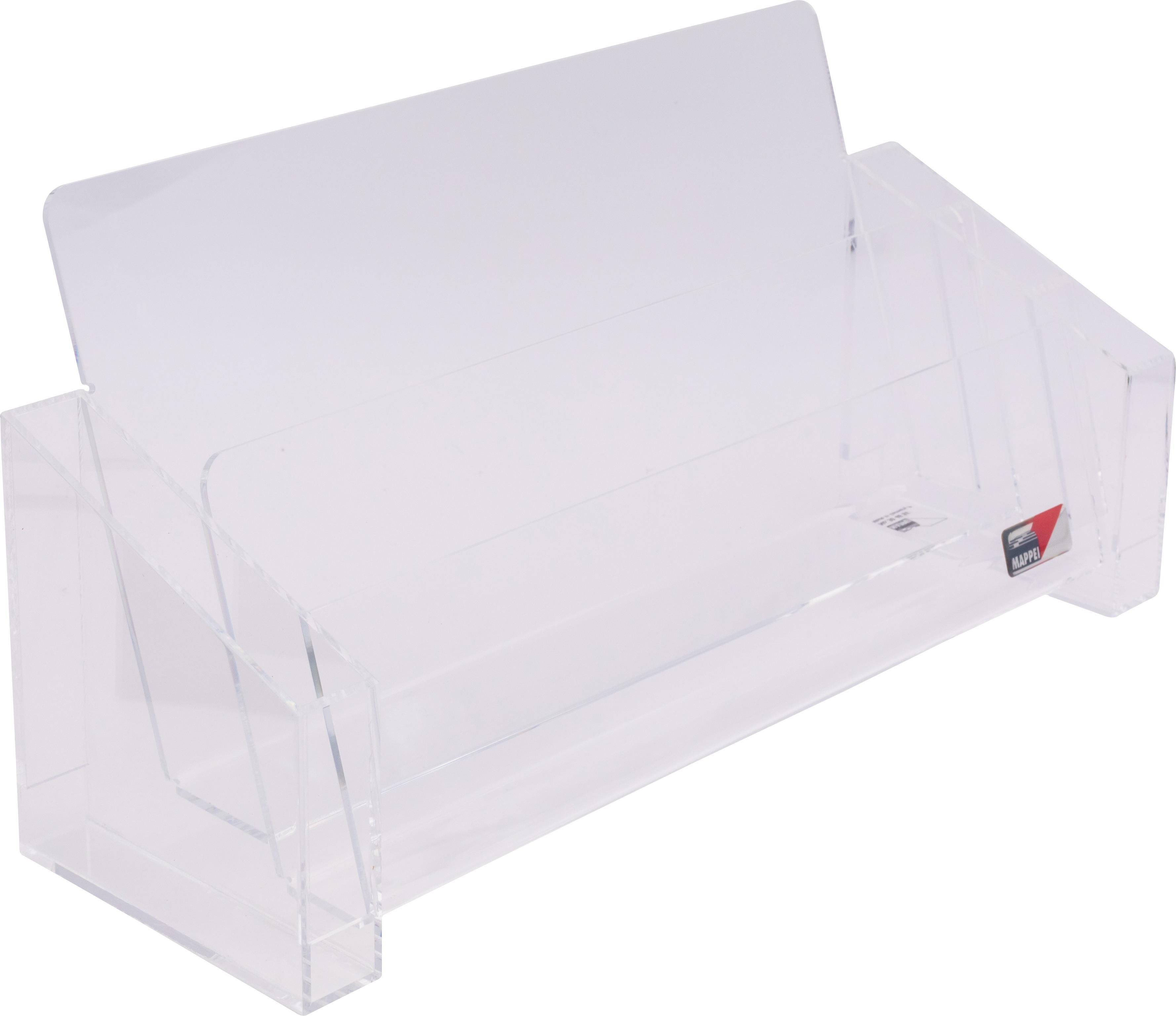 Organizer f. DIN A4, mit 2 Fächern u. Seitenfach, Acrylglas