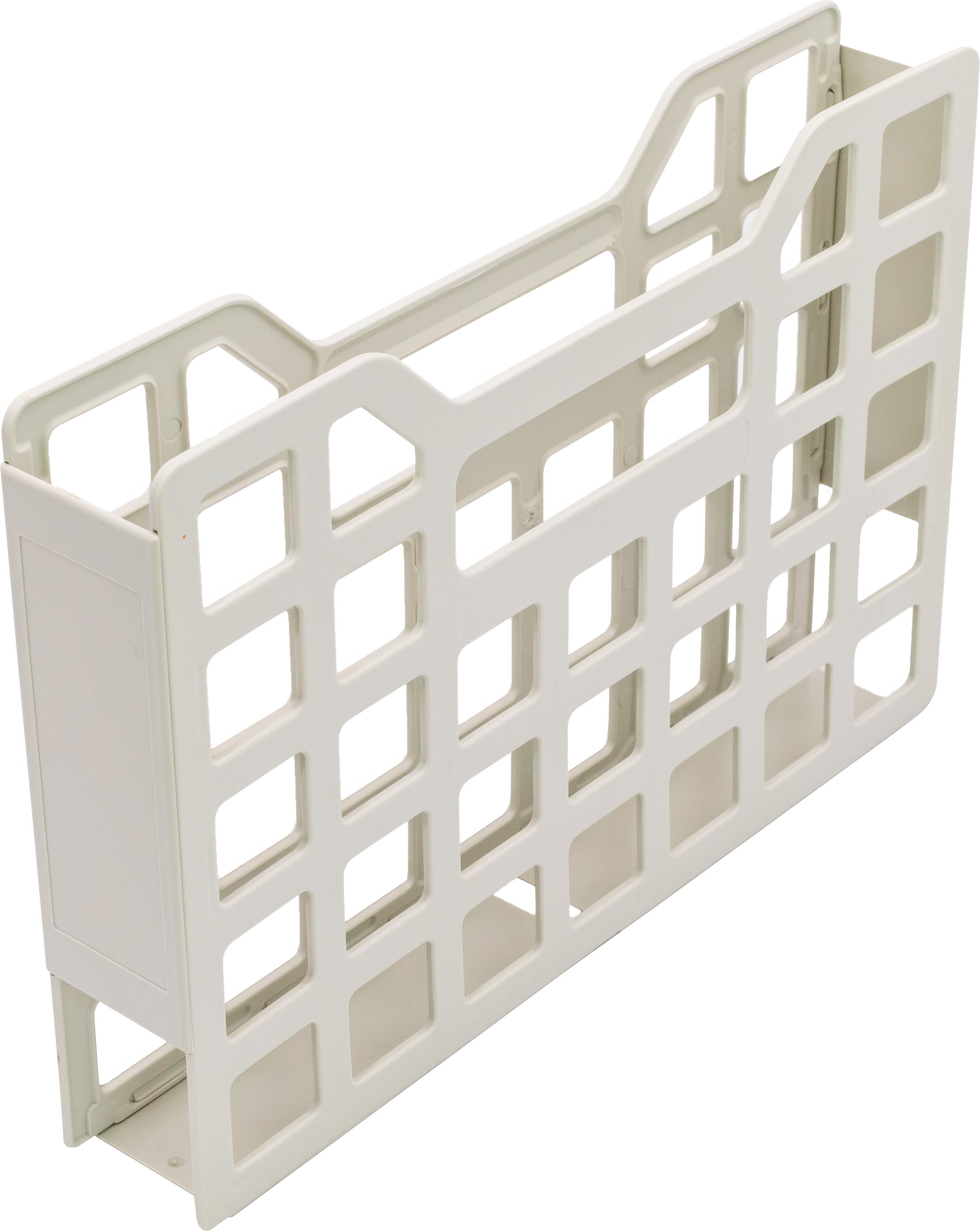 Ordnungsbox (Gitter) für DIN A4, 5 cm breit, ABS, hellgrau
