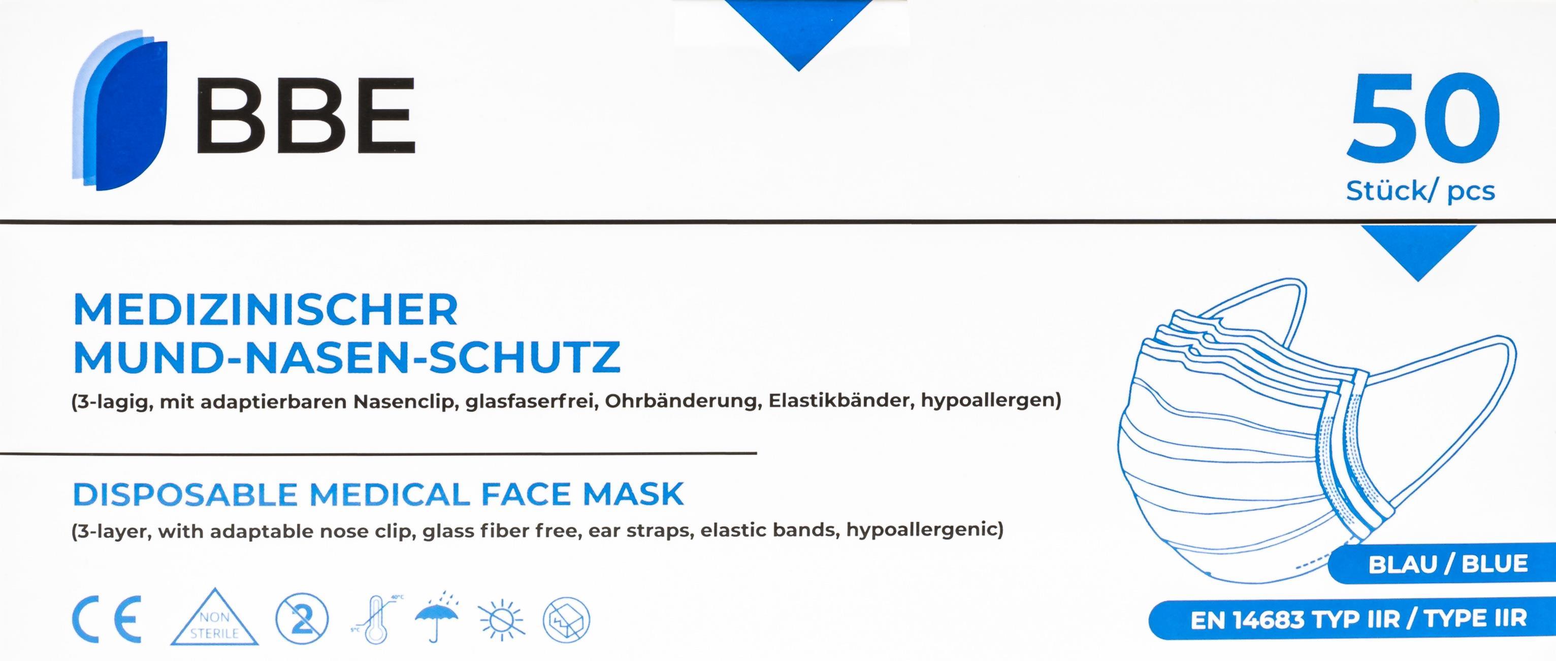 Medizinischer Mund-Nasen-Schutz BBE