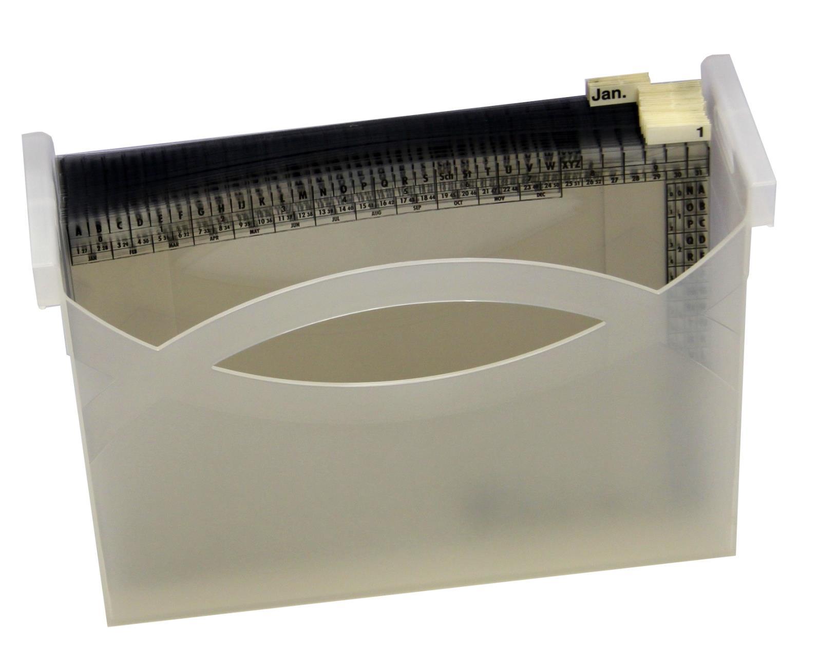 """Orgamodul """"Tage/Monate"""" (1-31/Jan.-Dez.), PVC-Mappen mit Box"""