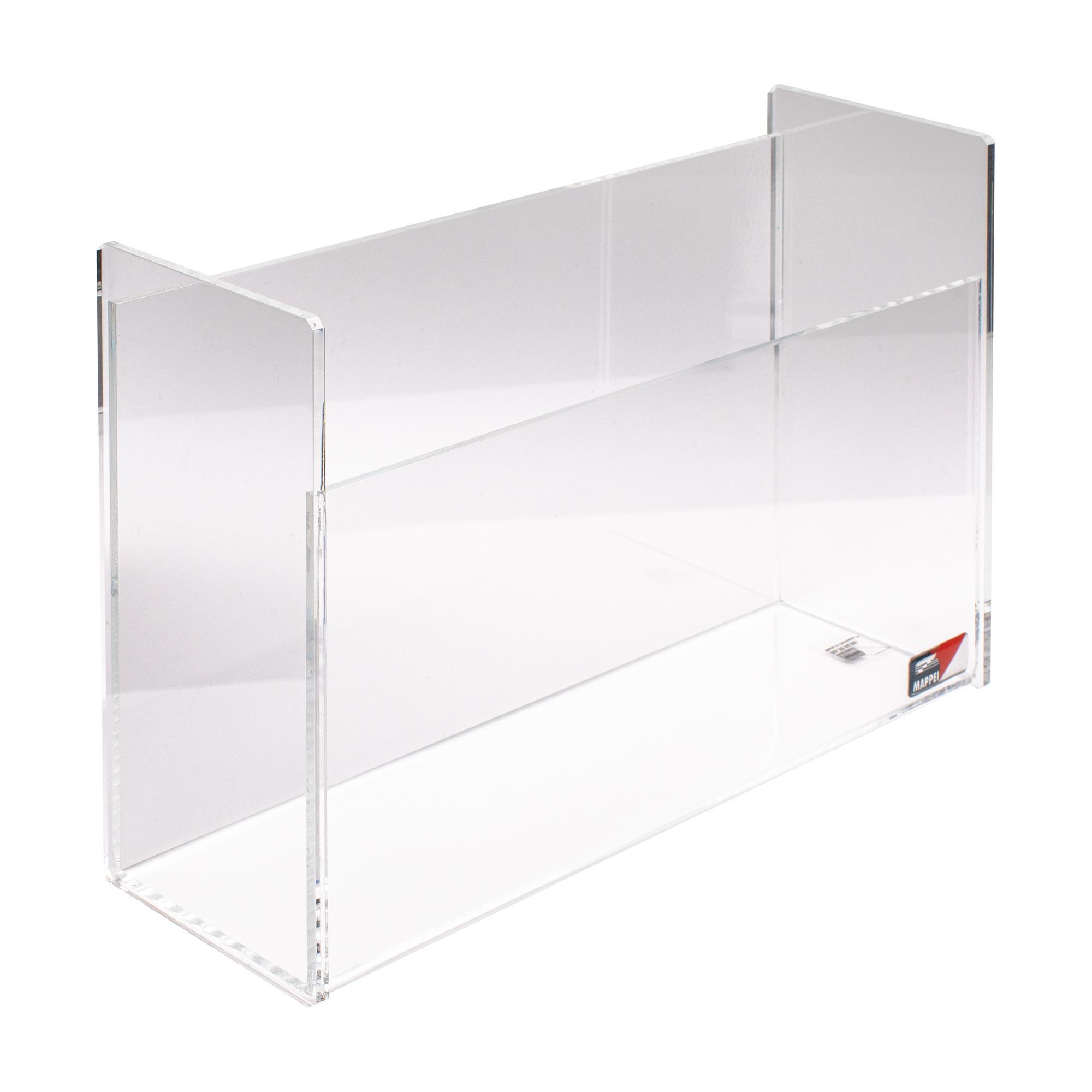 Ordnungsbox für DIN A4, 10,5 cm tief, Acrylglas, klar